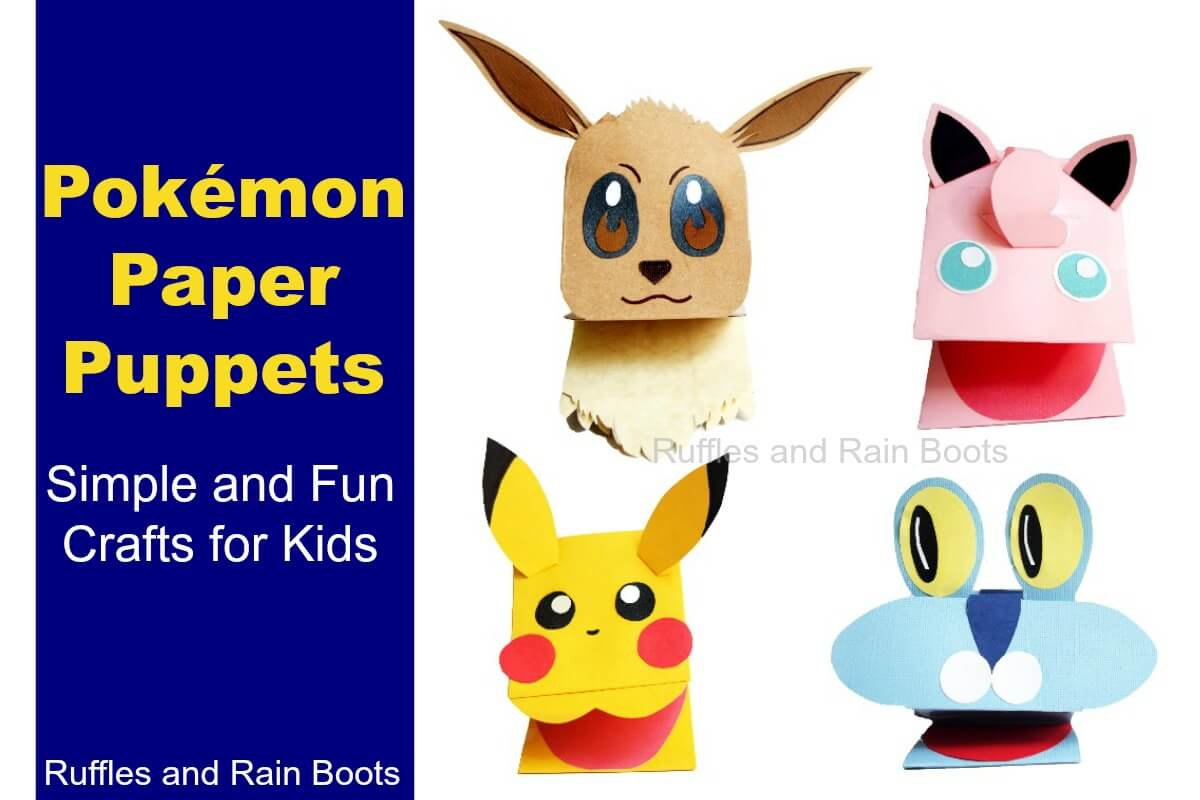 Pokemon Paper Puppets A Quick Pokemon Craft for Kids