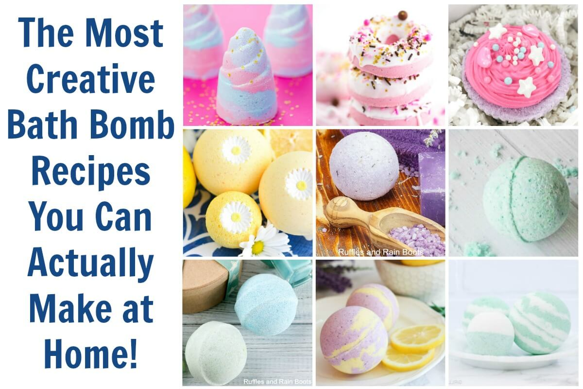 Make any of these creative bath bombs for a great DIY gift idea