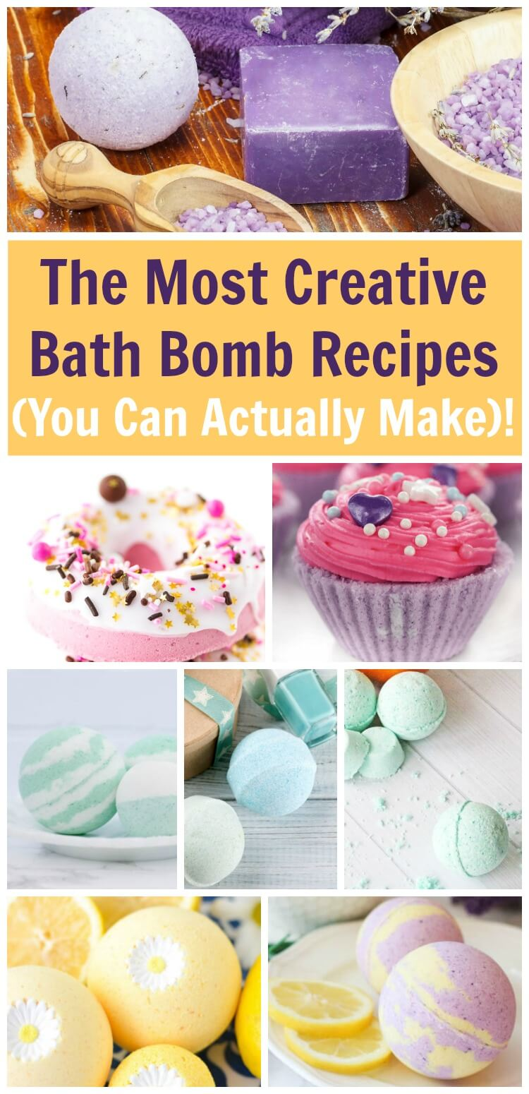 Make the most creative bath bombs with these no-fail bath bomb and shower fizzy recipes. #bathbombs #bathfizzy #diybeauty #showerfizzy #beautyDIY #beautygifts #rufflesandrainboots