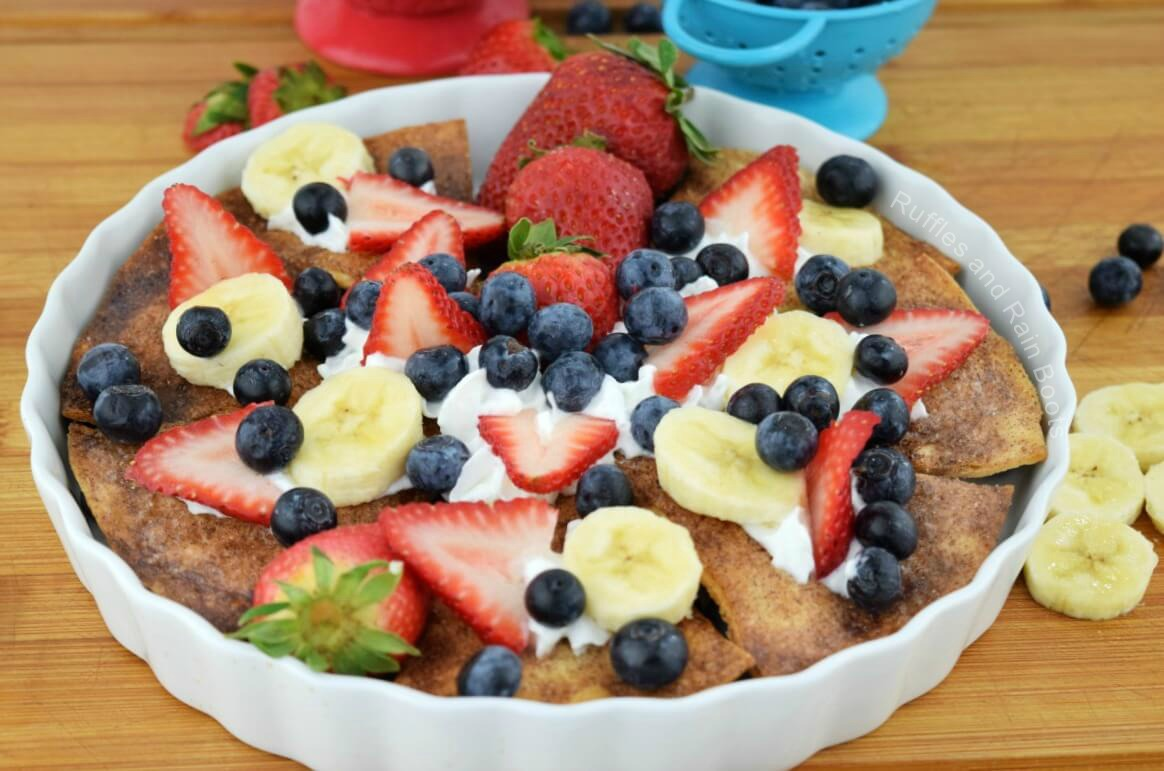 Amazing Dessert Nachos Recipe with Fruit and Cinnamon Sugar Chips
