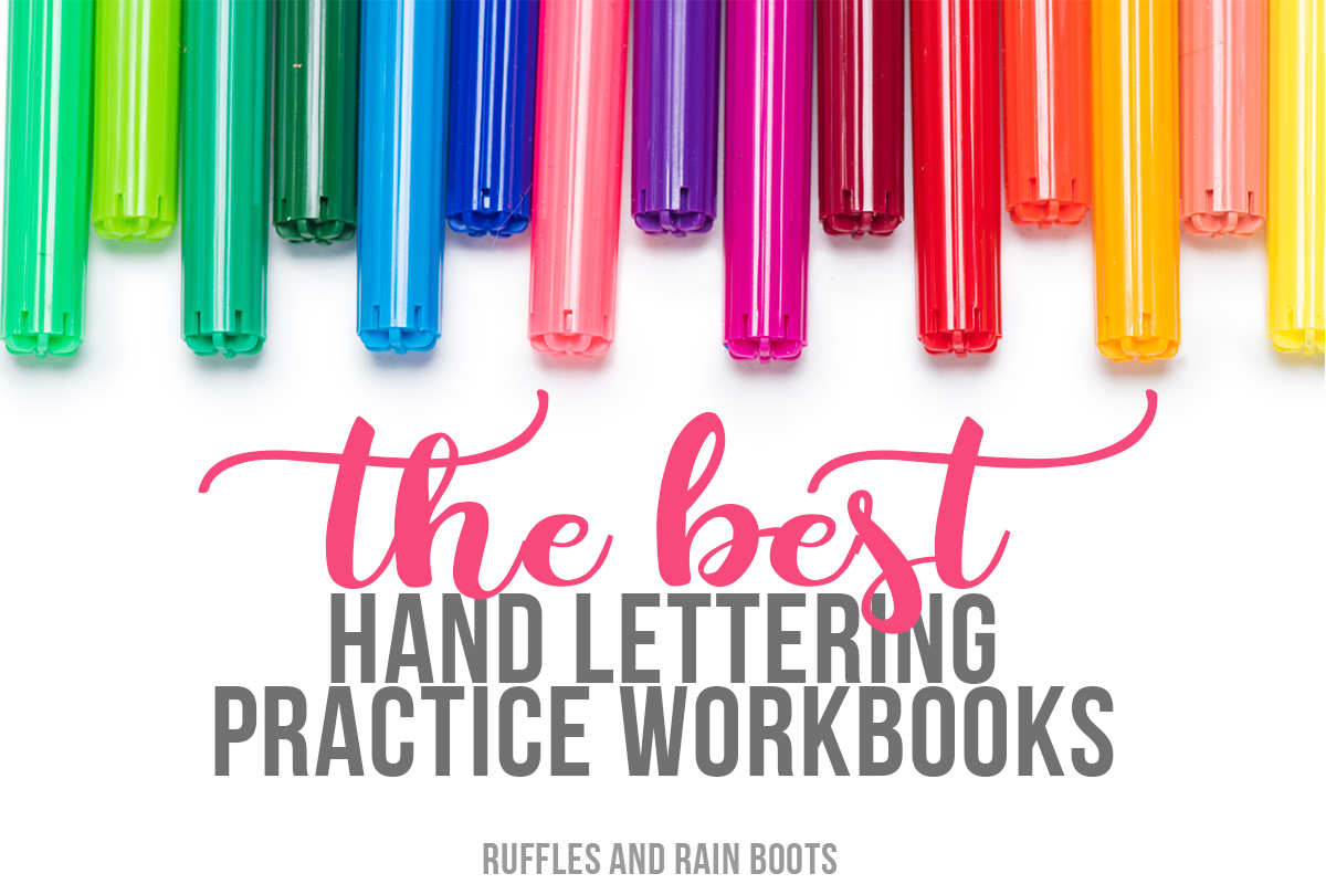 the best hand lettering practice sheets and workbooks for bounce, brush, and calligraphy