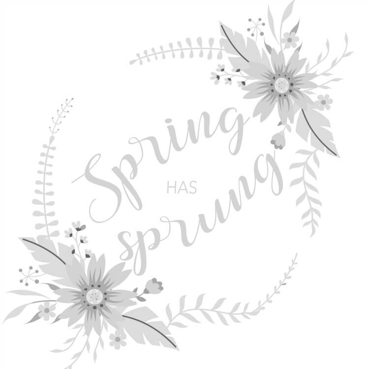 free spring hand lettering practice sheet