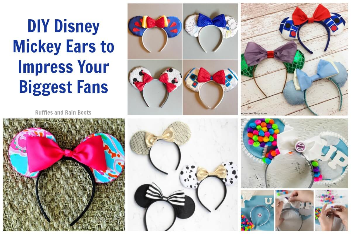Disney Mouse Ear Tutorials Make Mickey Ears Yourself before Disney World or Disneyland