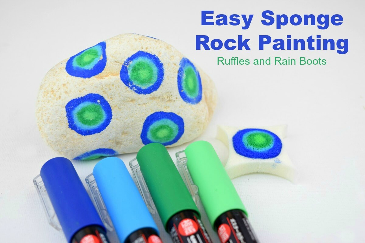 This fun and easy sponge rock painting idea for kids (and adults) will impress everyone!