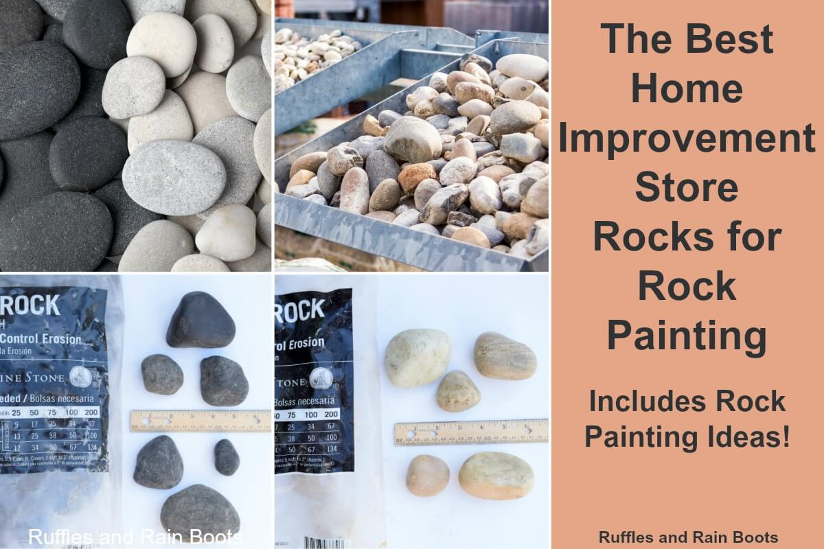 The best home improvement store rocks to buy for rock painting