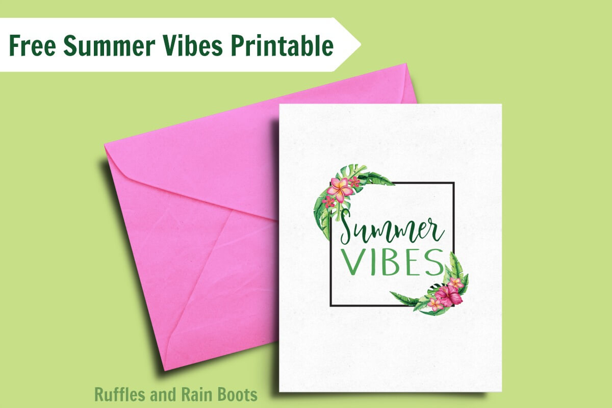 Free Calligraphy Practice with a Tropical Summer Printable