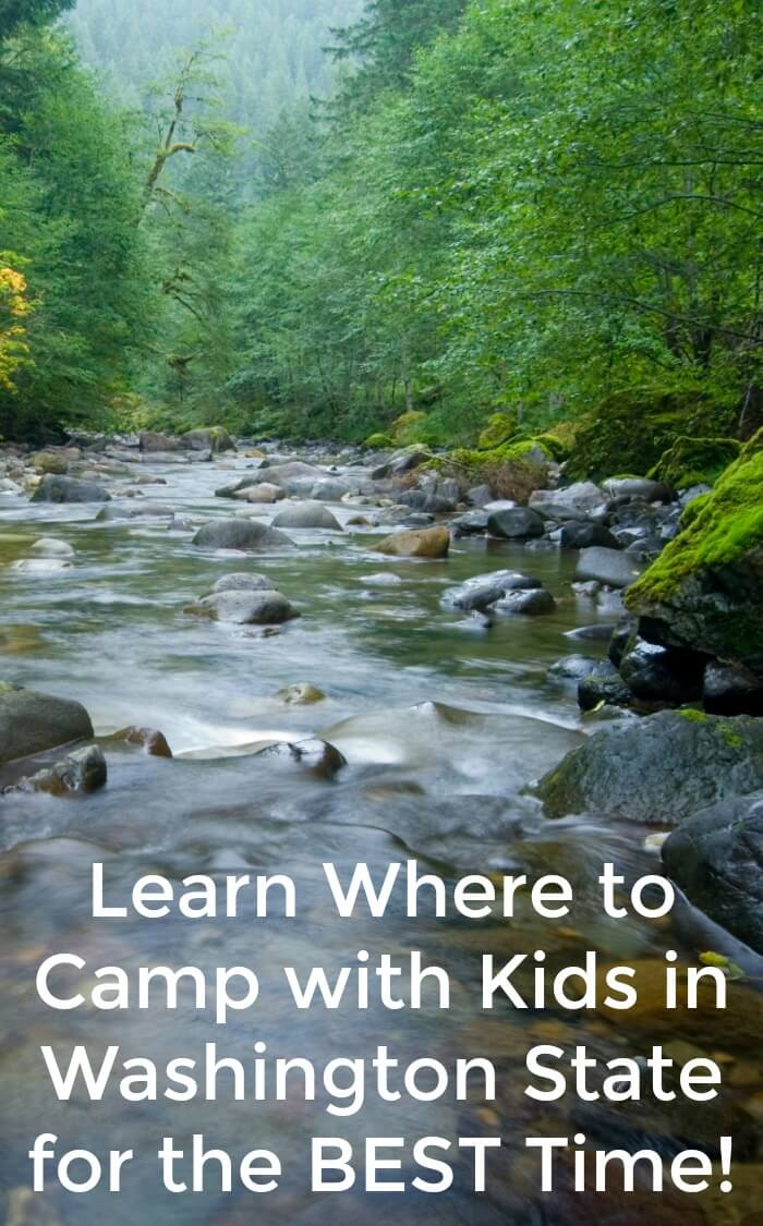 These are the 5 best campgrounds in Washington state if you're camping with kids. #camping #washington #familytrip #roadtrip #campingtrip #campingwithkids #rufflesandrainboots