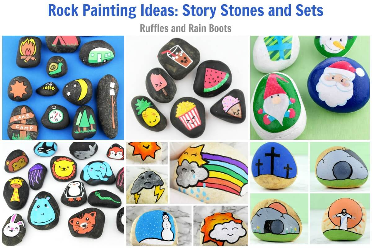 Story Stones and Rock Painting Sets for Gifts
