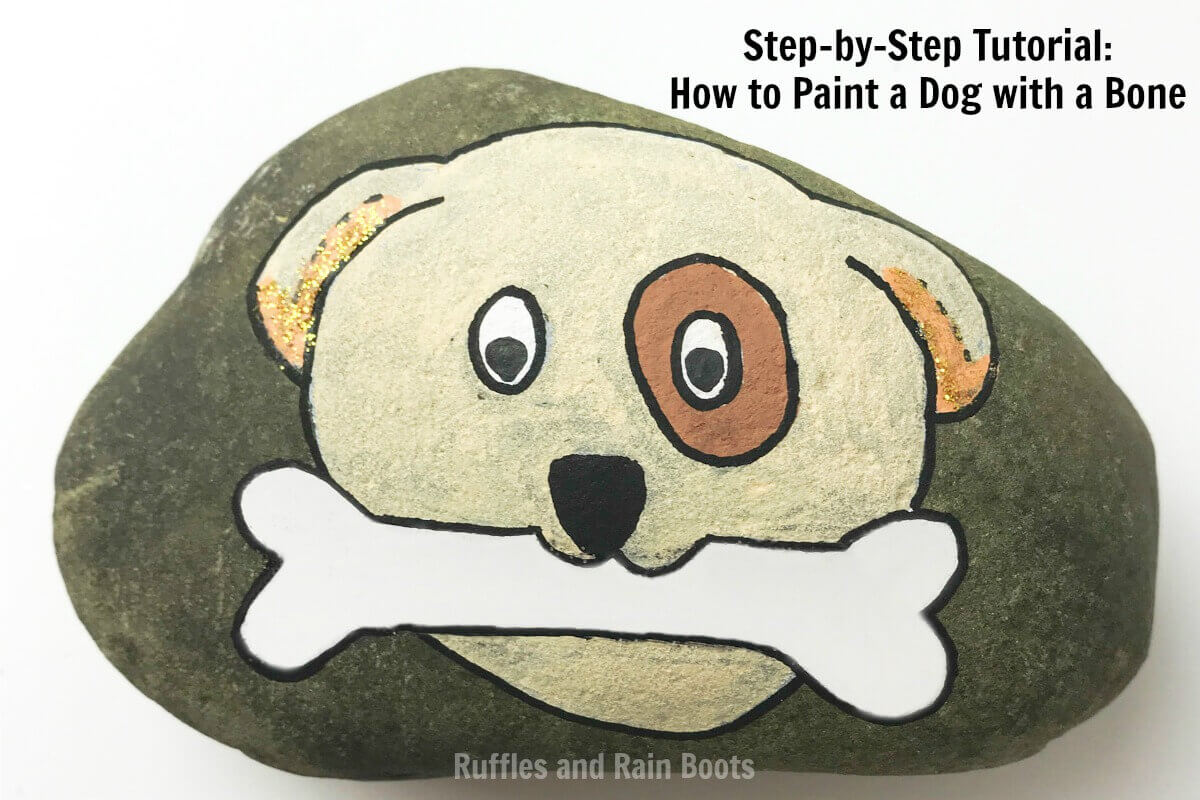 Learn how to make a dog rock painting idea come to life #pinitforlater