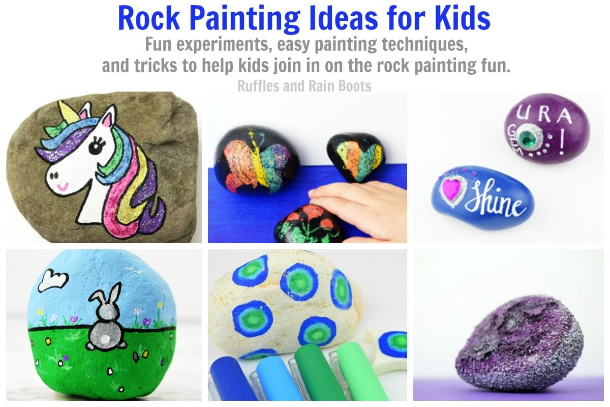 These rock painting ideas are ones kids can make themselves