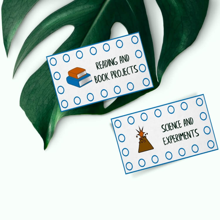 Summer Punch Cards for Kids