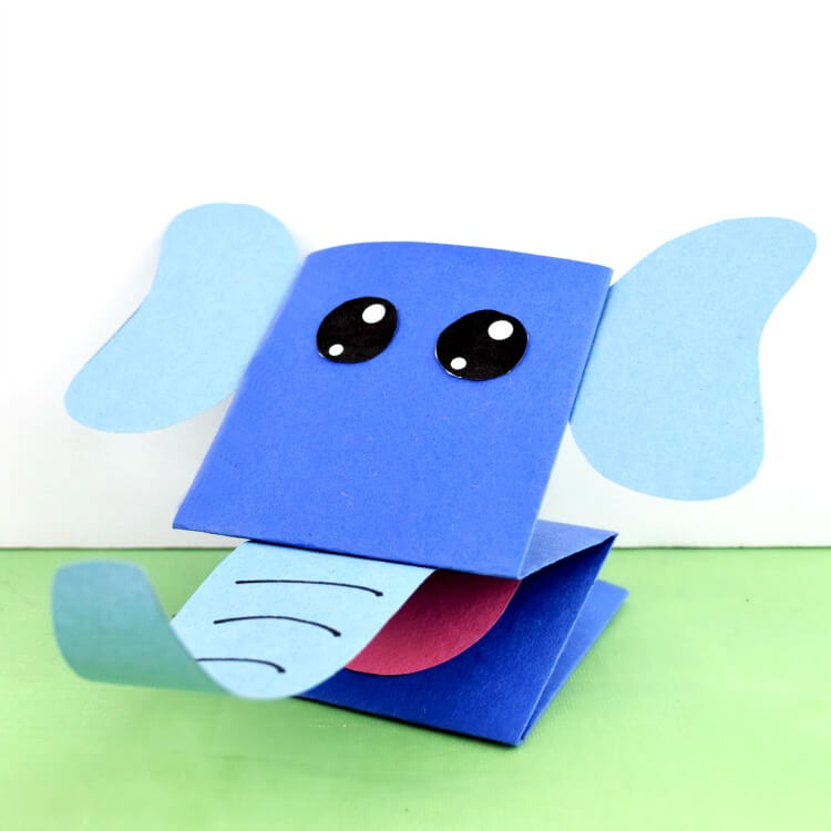 Elephant Puppet from Paper