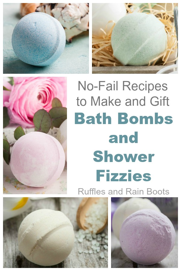 DIY Bath Bombs and Shower Fizzies Recipes