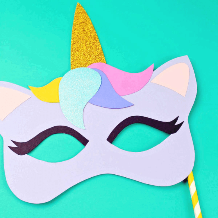 Free Printable Unicorn Mask – Coloring Page and Template