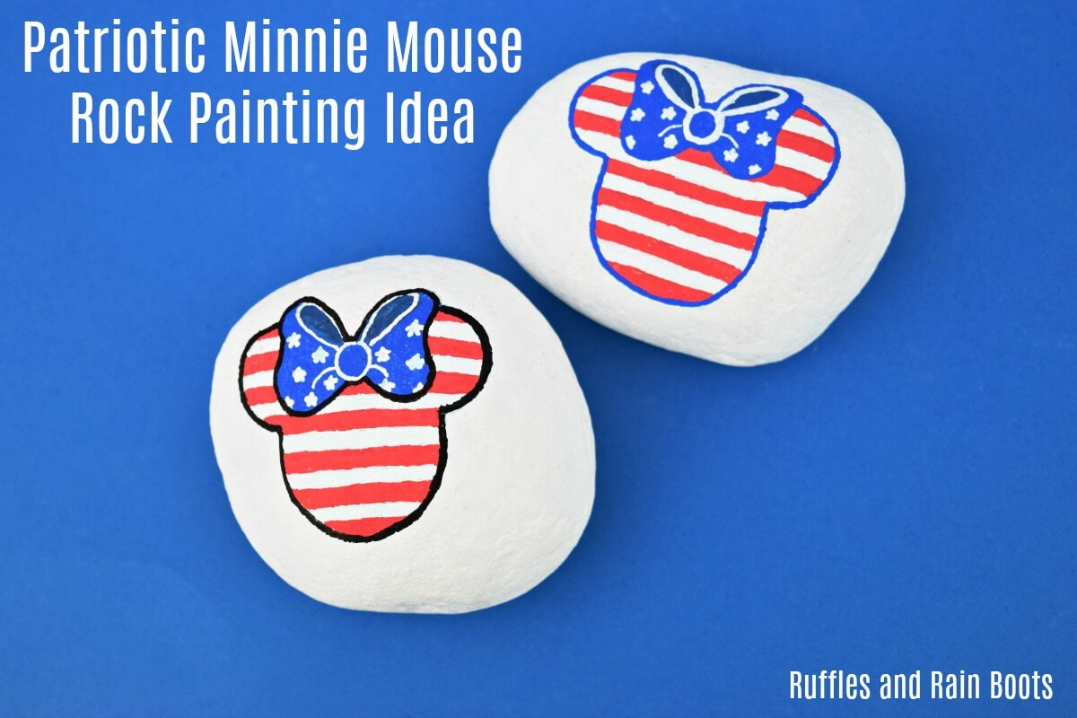 Independence Day Rock Ideas Minnie Mouse American Flag
