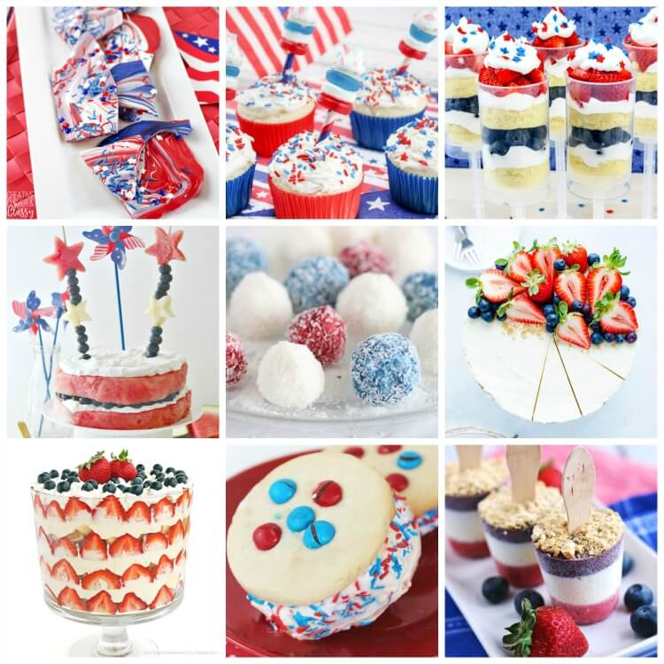 Red, White, and Blue Desserts to WOW!