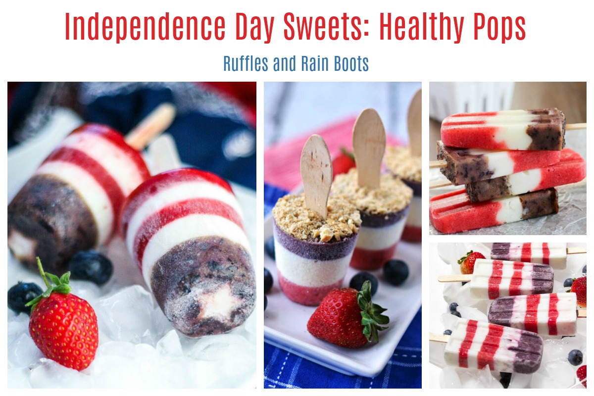July 4th Holiday Popsicles Healthy and Impressive Desserts