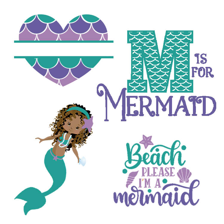 Free Mermaid SVGs, Fonts, and Graphics