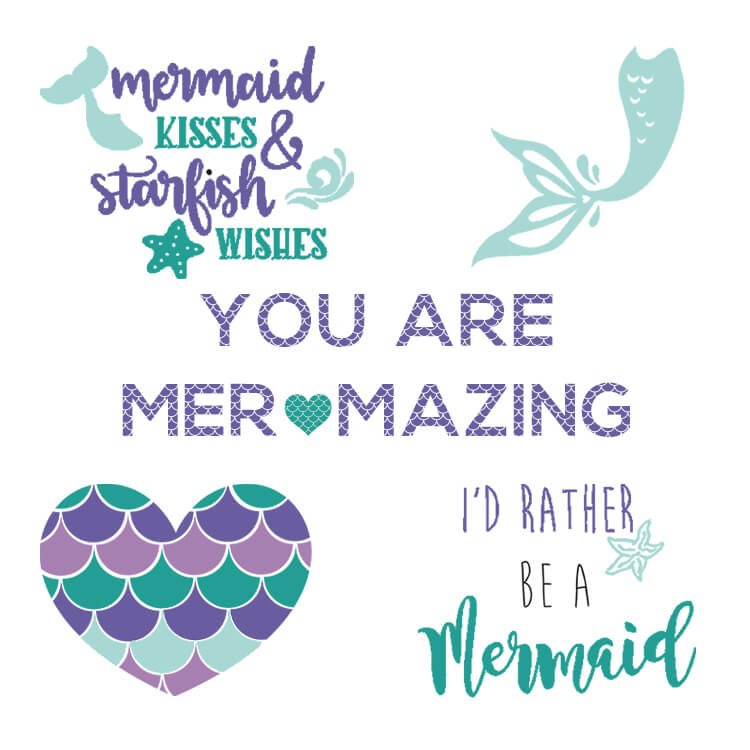 Free Mermaid SVG files Graphics and Fonts