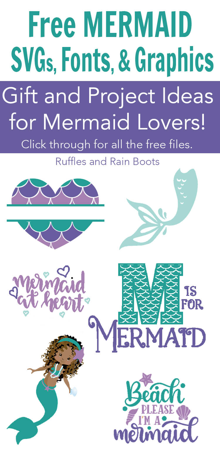 collection of free mermaid cut files with text which says free mermaid svg files for cricut and silhouette