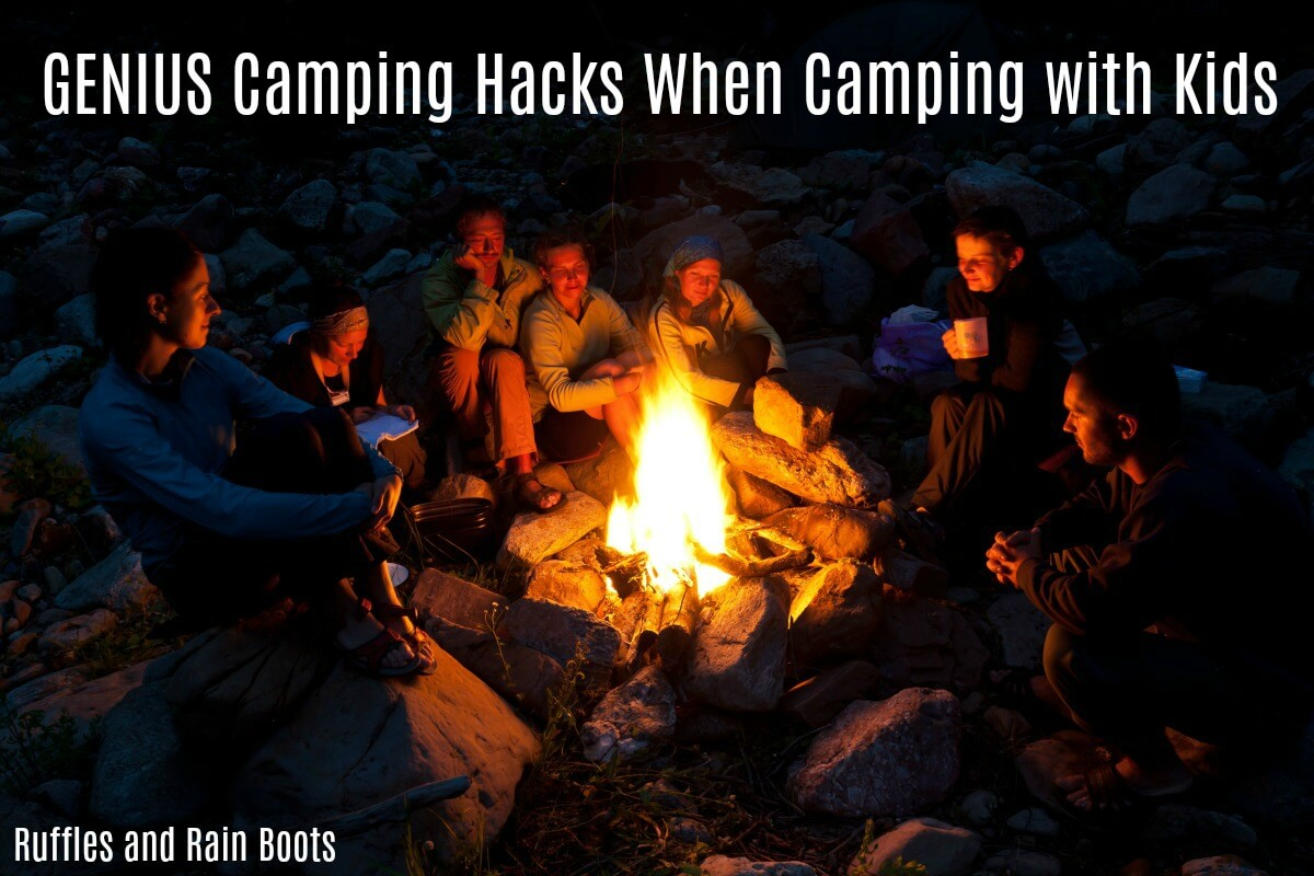 These genius camping hacks for camping with kids will save your sanity