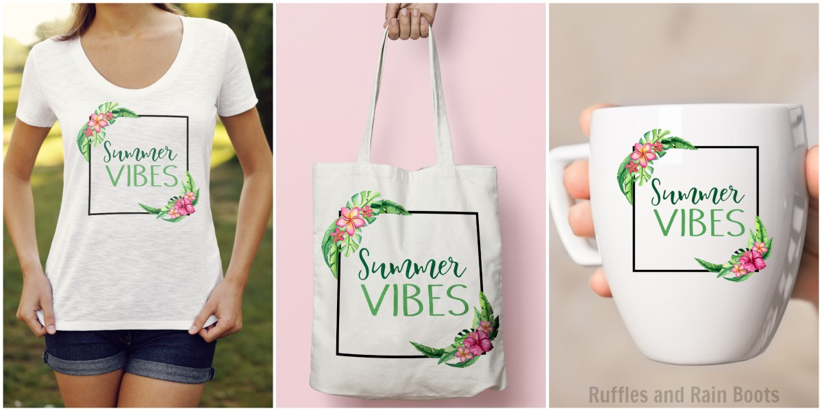 Summer PNG Clipart SVG Commercial Use Calligraphy Boho