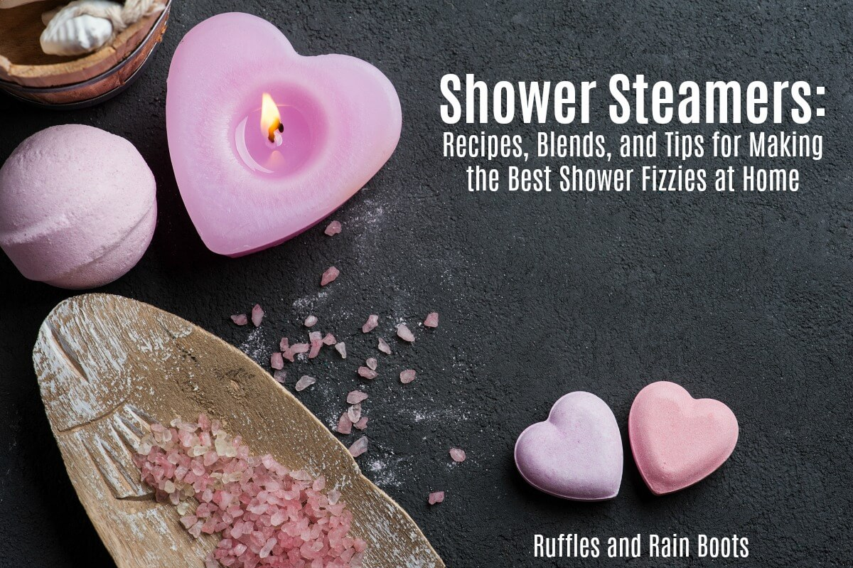 Learn how to make shower steamers and fizzies for aromatherapy benefits