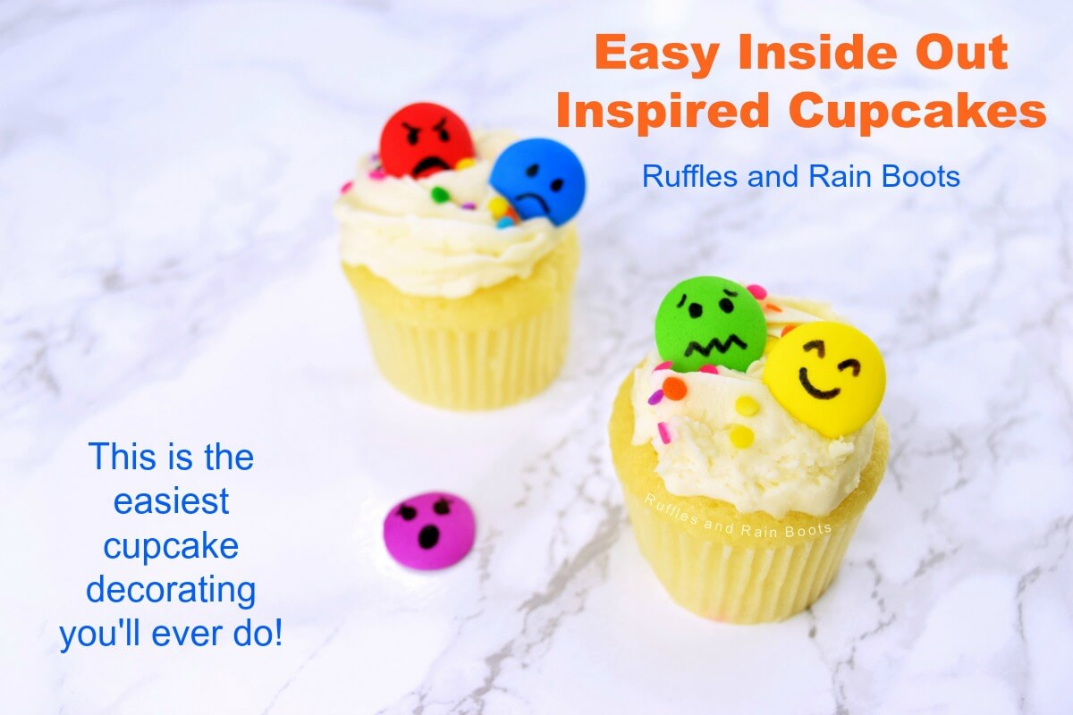 Easy Inside Out Cupcakes for Inside Out Movie Night
