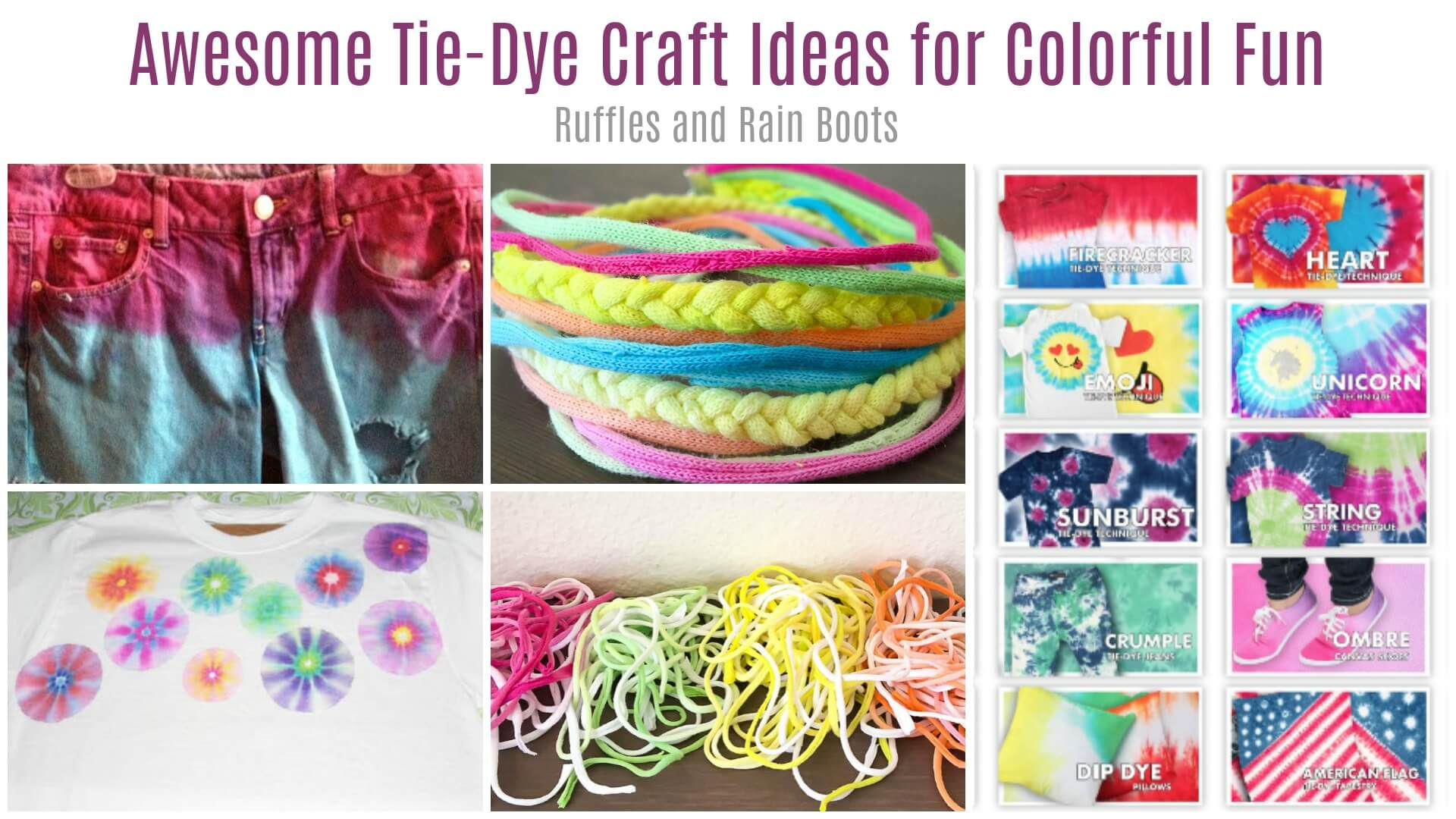 Tie Dye Craft Ideas for Colorful Science Fun