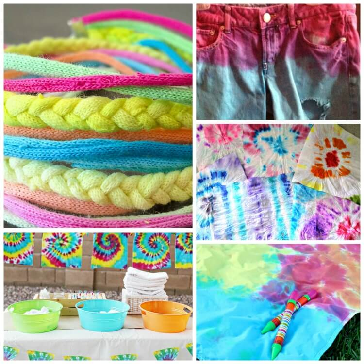 Tie-Dye Craft Ideas for Colorful Fun