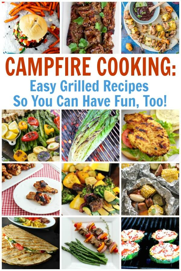 Plan ahead with these easy grilled camping recipes and have dinner covered in no time. #pinitforlater #camping #campfirecooking #campingrecipes #grillingrecipes #recipesforcamping #campfirerecipes #rufflesandrainboots
