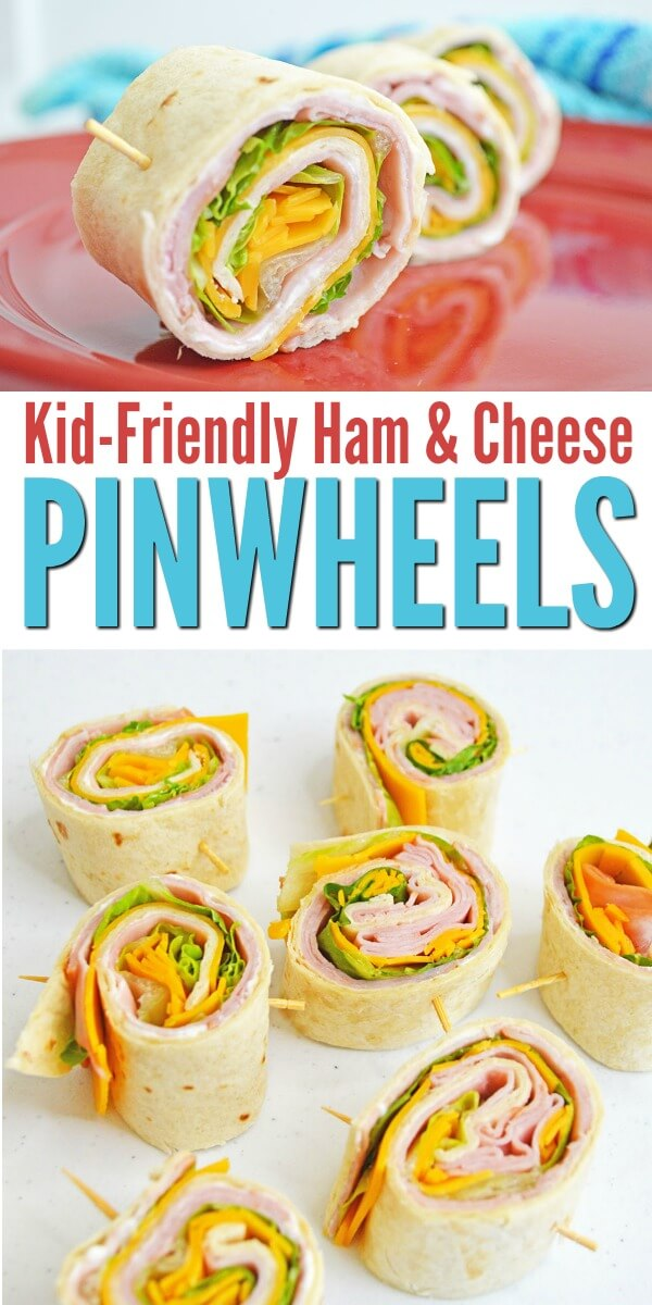 These kid-approved ham and cheese pinwheels are perfect for an easy back to school lunch idea. The kids will actually eat this! #backtoschool #easylunch #lunchideas #kidsinthekitchen #hamandcheese #pinwheels #rufflesandrainboots