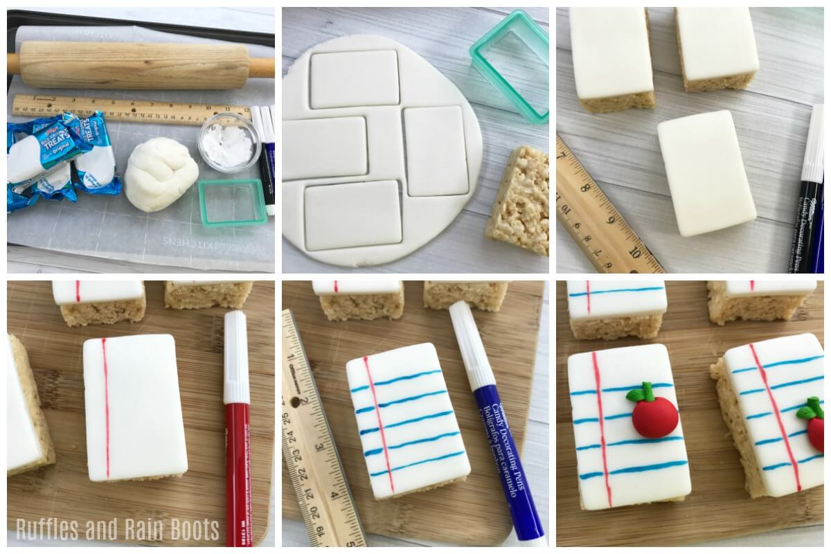 how to make Notebook paper Rice Krispies treats with kids