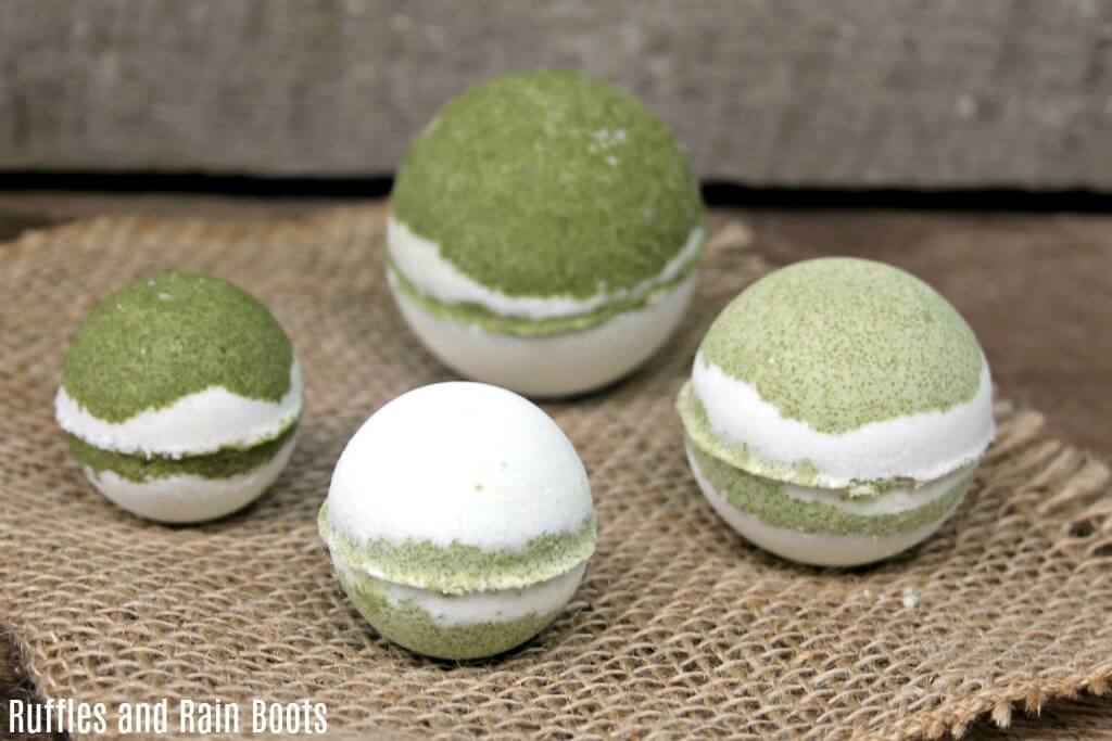 Easy green tea bath bombs gift DIY