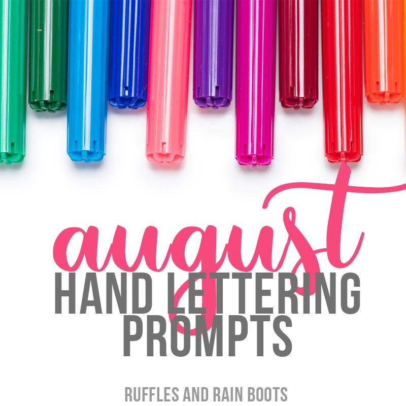 Free August Hand Lettering Practice