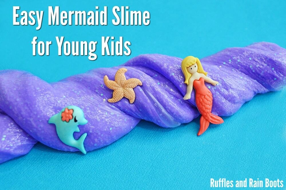 Mermaid slime for young kids safe slime recipe