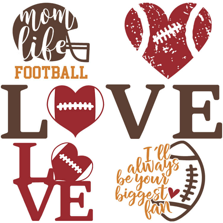Free Football SVG Cut Files for all cutting machines and DIY crafts for football lovers