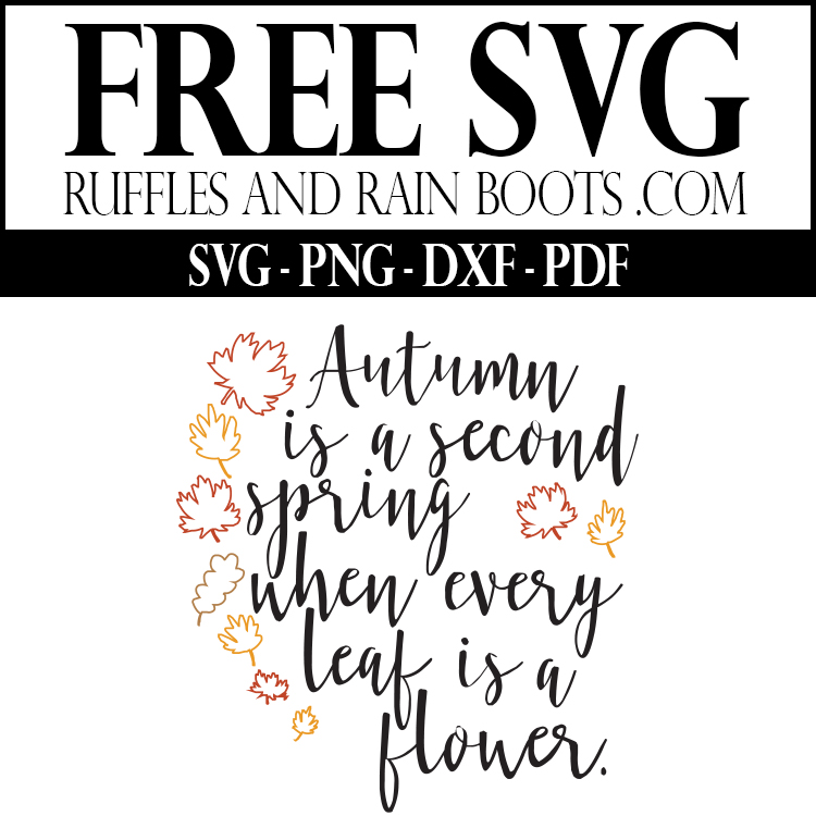 Free Autumn SVG and Printable