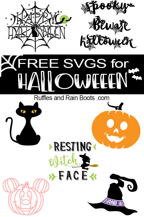 Get these free Halloween SVG and cut files. From sayings and quotes to adorable clipart, digital crafts were never easier. #freesvgs #digitalcrafts #cricut #silhouette #svgs #cutfiles #halloween #halloweensvgs #halloweencutfiles #rufflesandrainboots