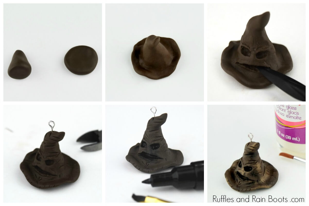 how to make a Harry Potter Sorting Hat bookmark
