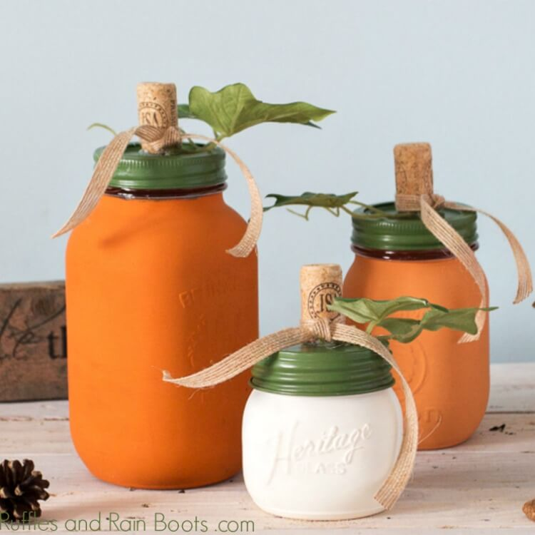 Pumpkin Mason Jar Craft and Gift Ideas