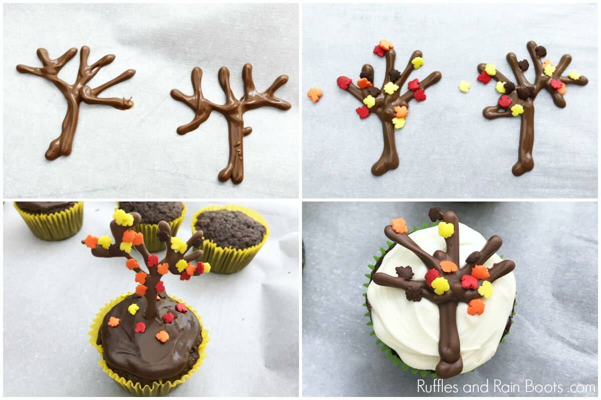 Fall Tree Cupcakes An Easy Fall Cupcake Decoration