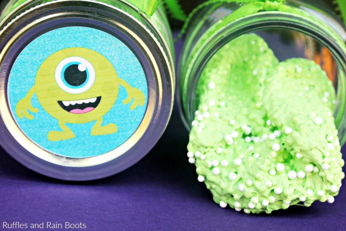 Monster Floam and Free Monster Label Printable