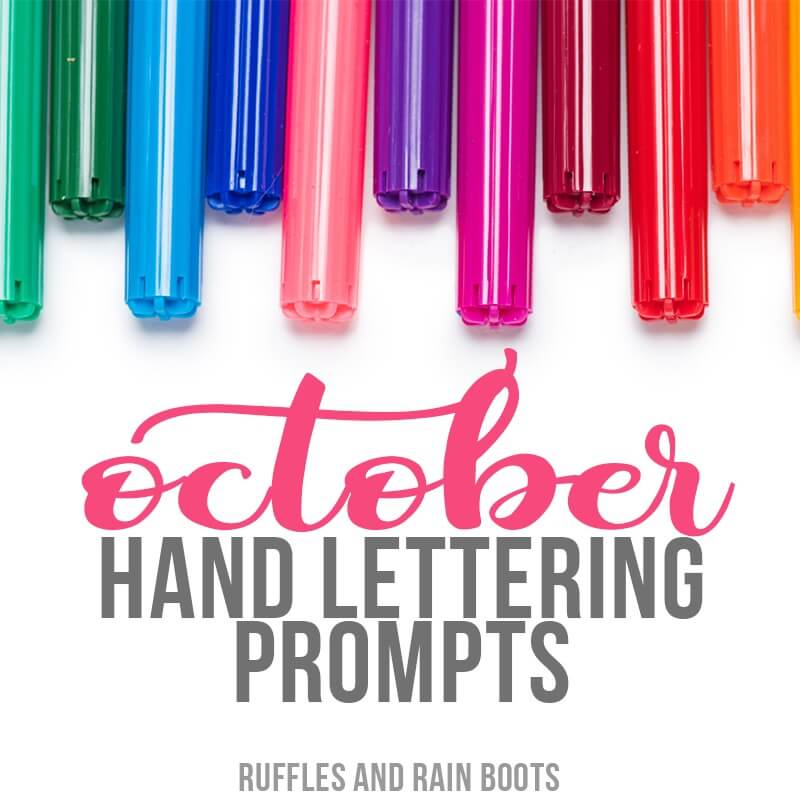 Free October Hand Lettering Practice and Prompts
