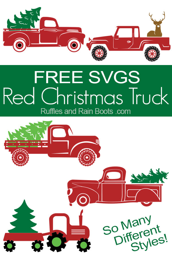 free Christmas truck SVG files