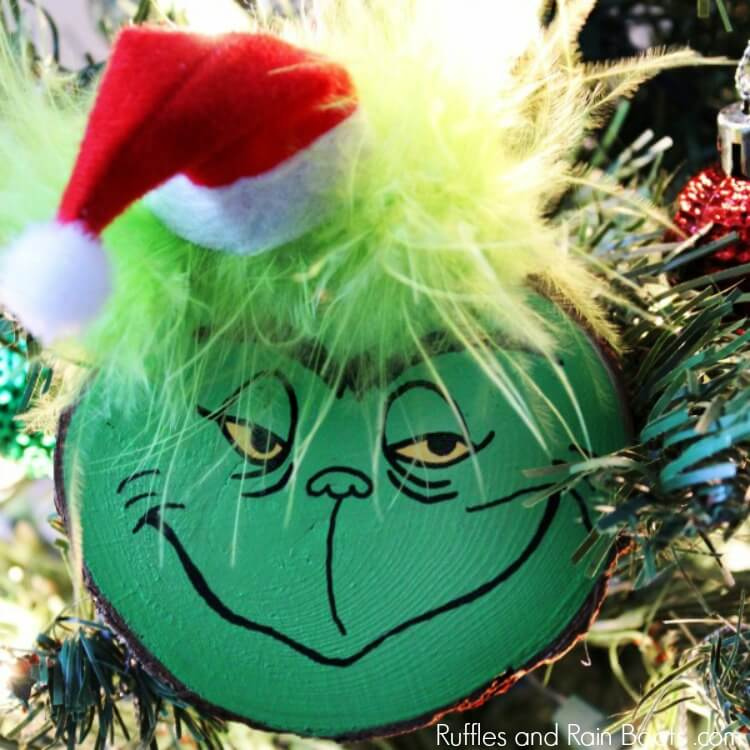 DIY Grinch Ornament Set