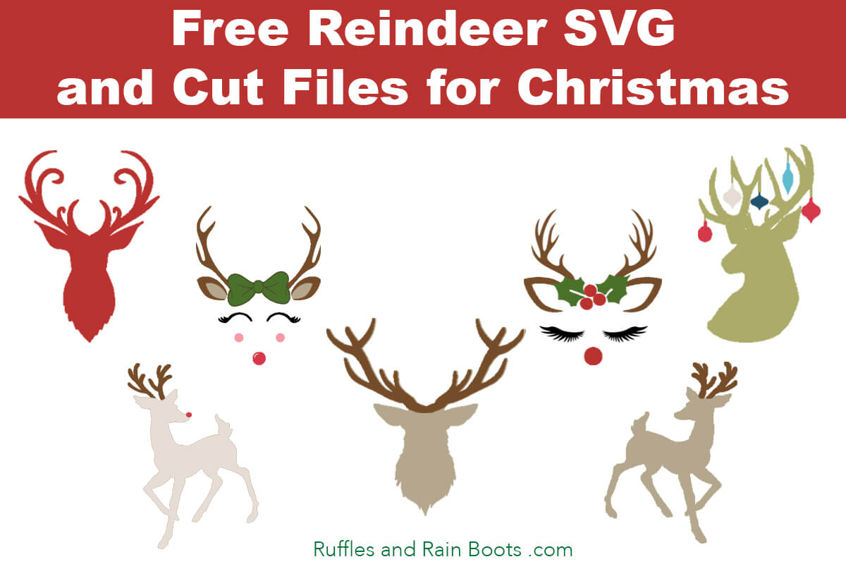 Free Reindeer Svgs And Antler Svgs For Christmas Crafts