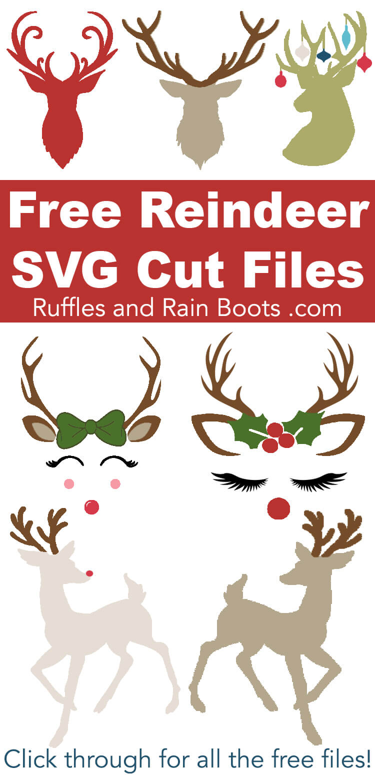 Click to see this collection of free Reindeer SVGs and antler cut files