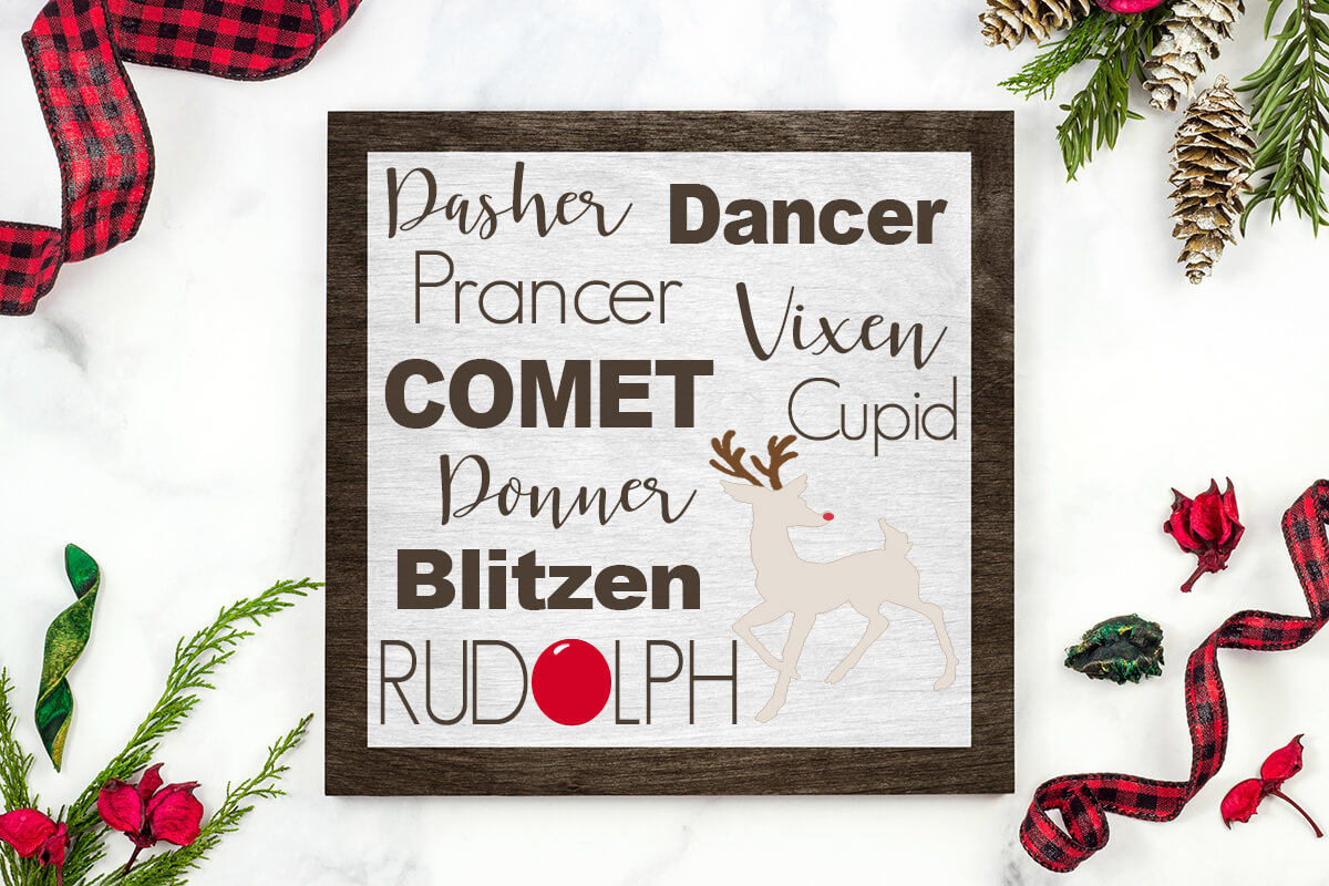 free reindeer SVGs and antler cut files for Christmas crafts