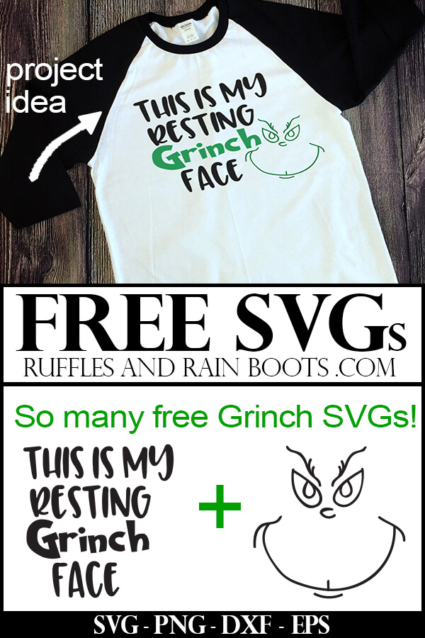 This is My Resting Grinch Face Free SVG on a t-shirt